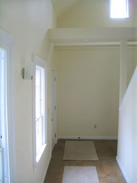 Rear entryway and stairs for second floor